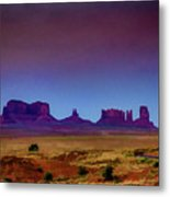 Purple Sunset In Monument Valley Metal Print