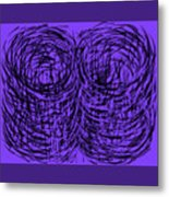 Purple Swirls Metal Print