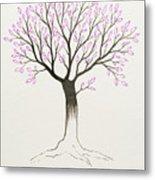 Purple Tree Metal Print