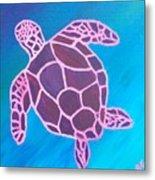 Purple Turtle Metal Print
