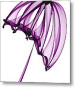 Purple Umbrella Metal Print