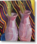 Purple Vases Metal Print