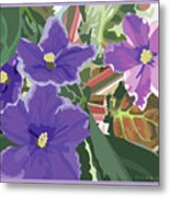 Purple Violets Metal Print