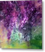 Purple Vortex Painting Metal Print