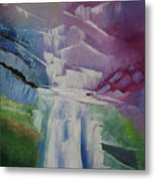 Purple Waterfalls Metal Print