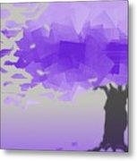 Purple Wind Metal Print