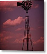 Purple Wind Metal Print