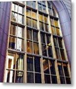 Chicago Golden Purple Window Panes Metal Print