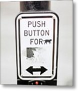 Push Button For Cat Metal Print