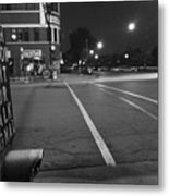 Push Button For Walk Signal Metal Print