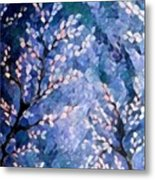 Pussy Willow Abstract Metal Print