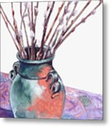 Pussy Willows Bouquet Metal Print