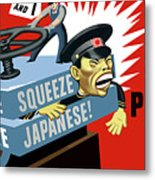 Put The Squeeze On The Japanese Metal Print