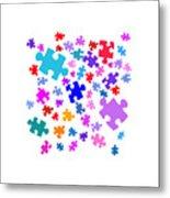 Puzzle Pieces Metal Print