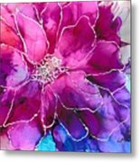 Powerfully Pink Metal Print