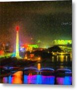 Pyongyang Night Scene Metal Print