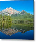 Pyramid Island In The Pyramid Lake Metal Print