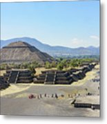 Pyramid Of The Sun And Avenue Of The Dead Metal Print