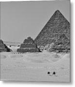 Pyramids At Giza Metal Print