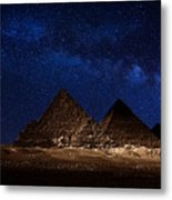 Pyramids Milky Way Metal Print