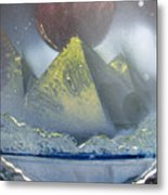 Pyramids Of The Red Moon Metal Print