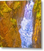 Pyrenees Spanish Bridge Waterfall Metal Print