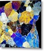 Pyroxenite Mineral, Light Micrograph Metal Print