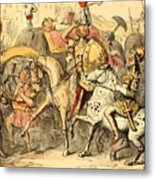 Pyrrhus Arrives In Italy With His Troupe Metal Print