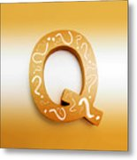 Q For Education And Learning Metal Print