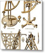 Quadrants And Sextant, 1790 Metal Print