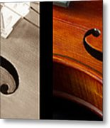 Quadriptych Of Musical Curves Metal Print