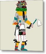 Quail Dancer Kachina Metal Print