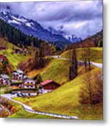 Quaint Bavarian Village Metal Print