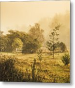 Quaint Countryside Scene Of Glen Huon Metal Print