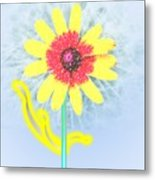Quaint Little Daisy Metal Print