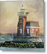 Quaint Stepping Stones Lighthouse Metal Print