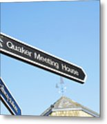 Quaker Meeting House Sign Metal Print