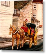 Quebec City Carriage Ride Metal Print