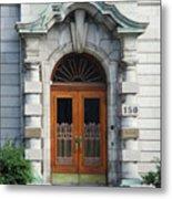 Quebec City Doors 1 Metal Print