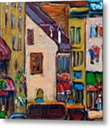 Quebec City Street Scene  Caleche Ride Metal Print