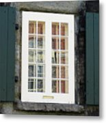 Quebec City Windows 47 Metal Print