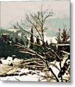 Quebec In January Metal Print