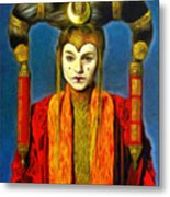 Queen Amidala Senate Costume Metal Print