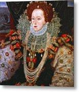 Queen Elizabeth I, C1588 Metal Print