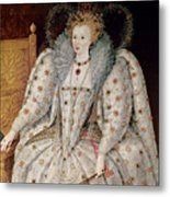 Queen Elizabeth I Of England And Ireland Metal Print