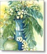 Queen Emma In Blue Vase Metal Print