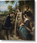 Queen Isabella And Columbus Henry Nelson Oneil Metal Print