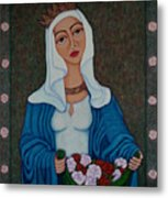 Queen St Isabel - The Miracle Of The Roses Metal Print