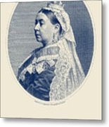 Queen Victoria Engraving - Her Majesty The Queen Metal Print