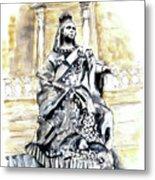 Queen Victoria In Valletta Metal Print